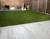 The finished fake lawn