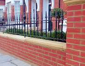 Victorian style brick wall