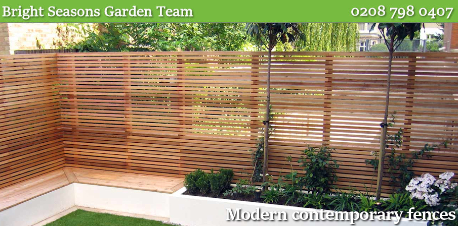 Modern contemporary fences London