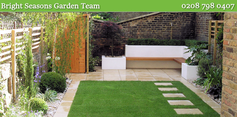 The landscaped garden London