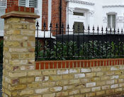 Wall with railings