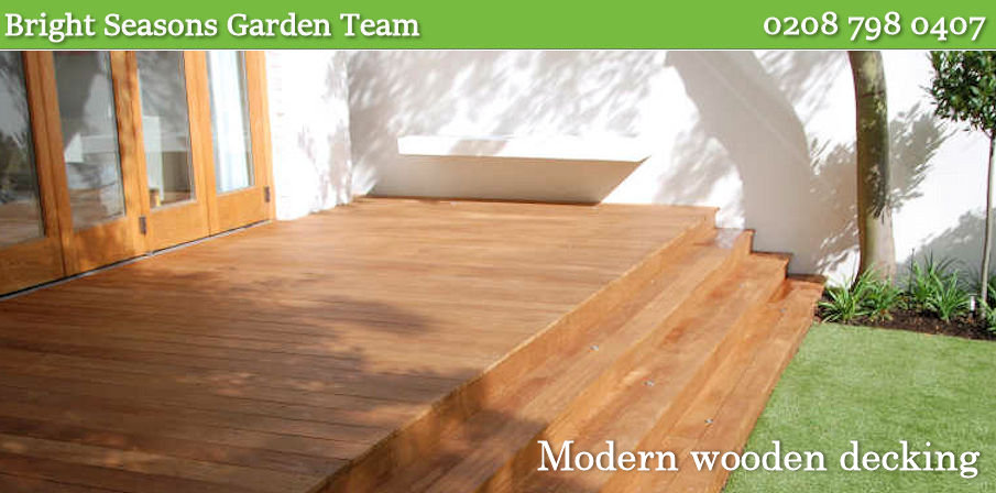Building wooden garden decks London